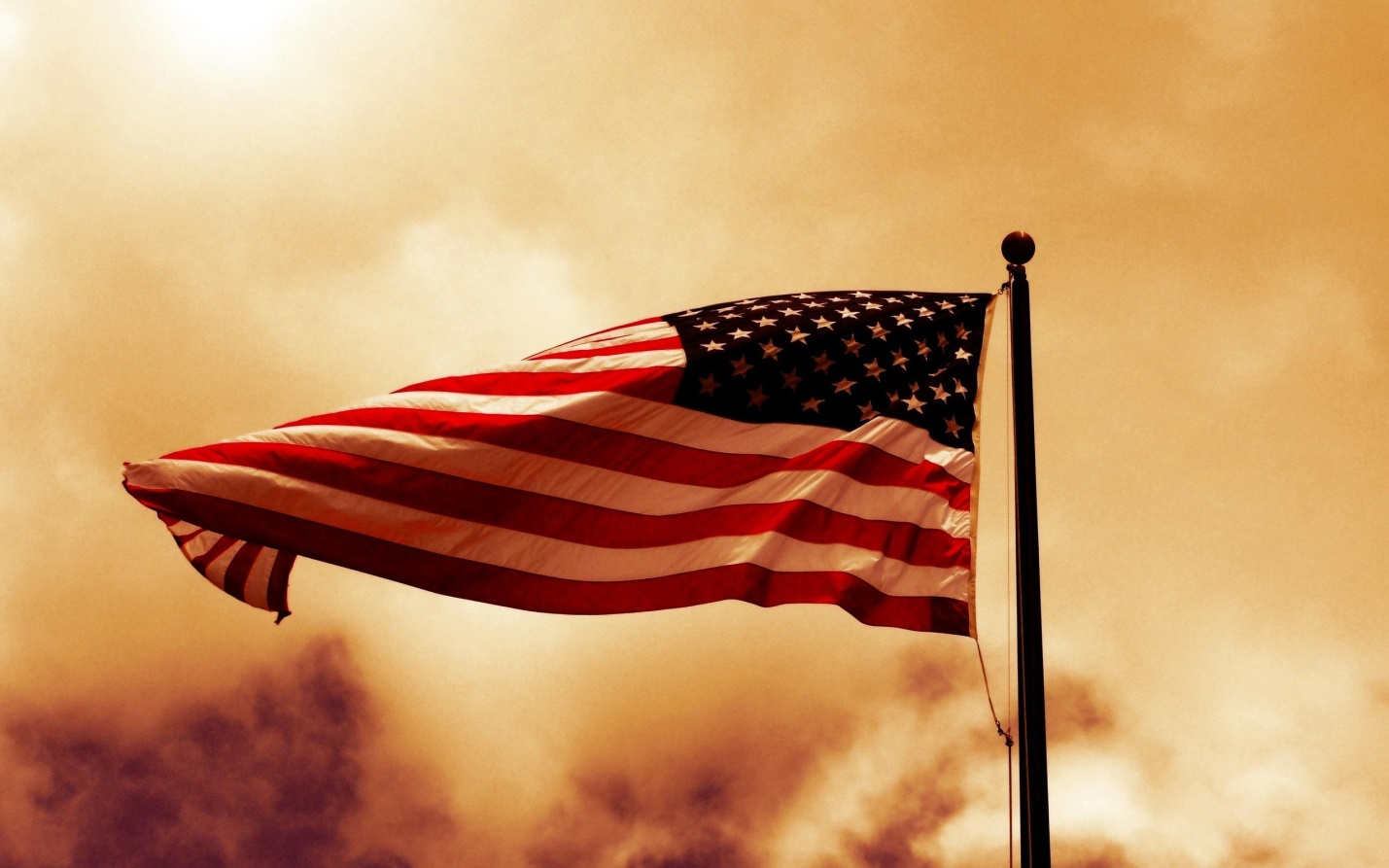 American-flag-with-smoke-background