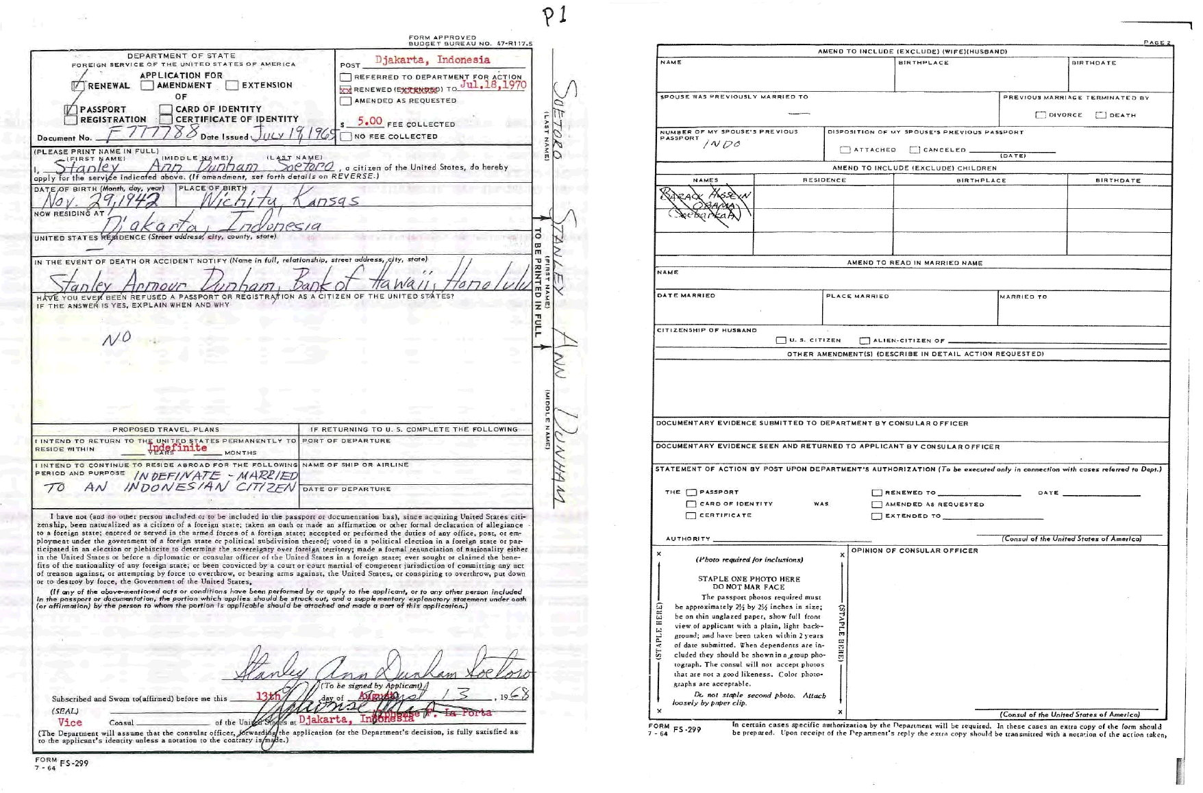 Ann-Dunham-Soetoro-1968-Passport-Renewal-Application